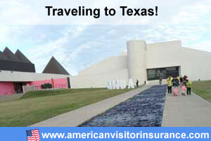 Buy visitor insurance for Texas