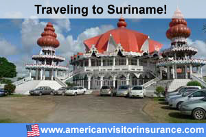 Buy visitor insurance for Suriname