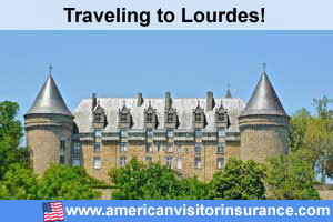 Buy visitor insurance for Lourdes