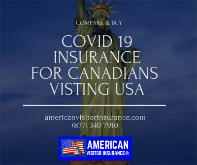 Covid19 travel insurance for Canadians to USA
