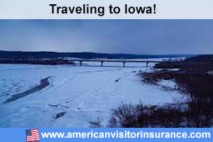 Buy visitor insurance for Iowa