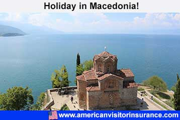 Visitor insurance for Macedonia