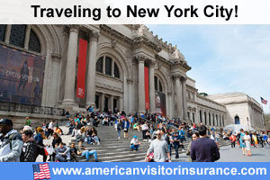 Buy visitor insurance for New York City