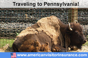 Buy visitor insurance for Pennsylvania